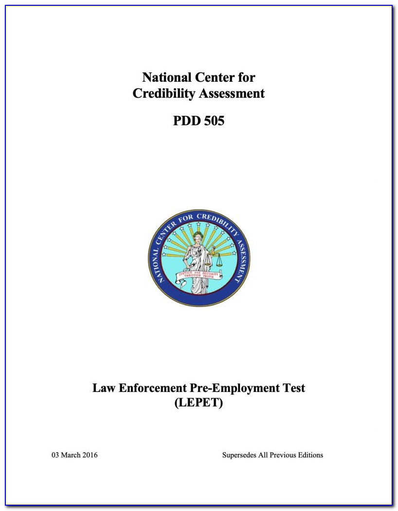 Ncca Polygraph Certification
