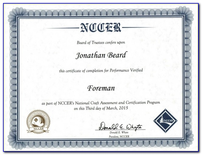 Nccer Certification Card Replacement