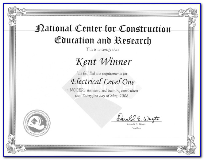 Nccer Electrical Certification