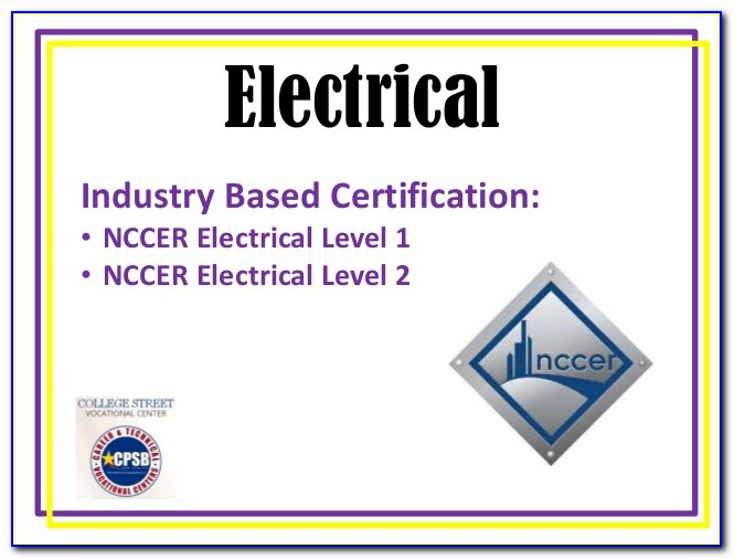 Nccer Electrical License Reciprocity