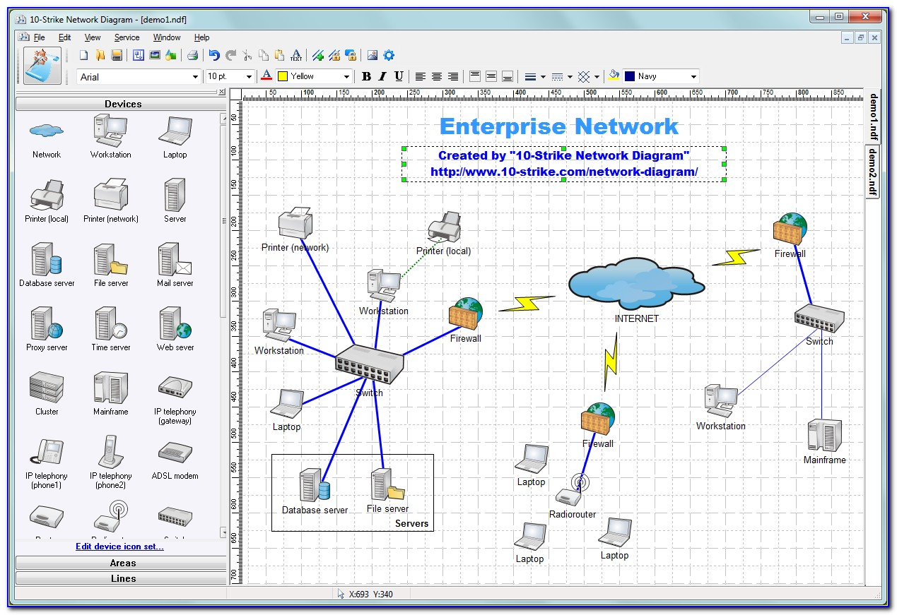 Network Topology Diagram Software Free Download