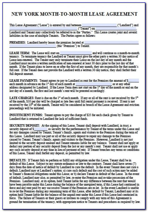New York City Lease Agreement Template