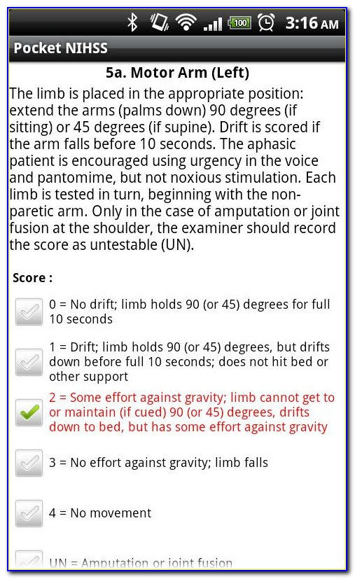 Nih Stroke Scale Certification Answers Group B