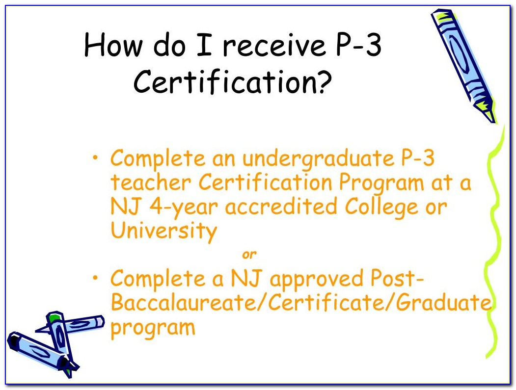 Nj State Approved Post Baccalaureate Certification Program