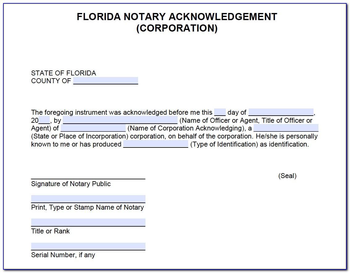 Notary Public Certification Florida