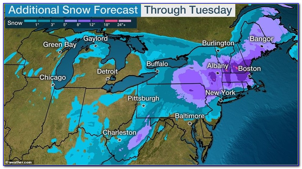 Nyc Weather Snow Map