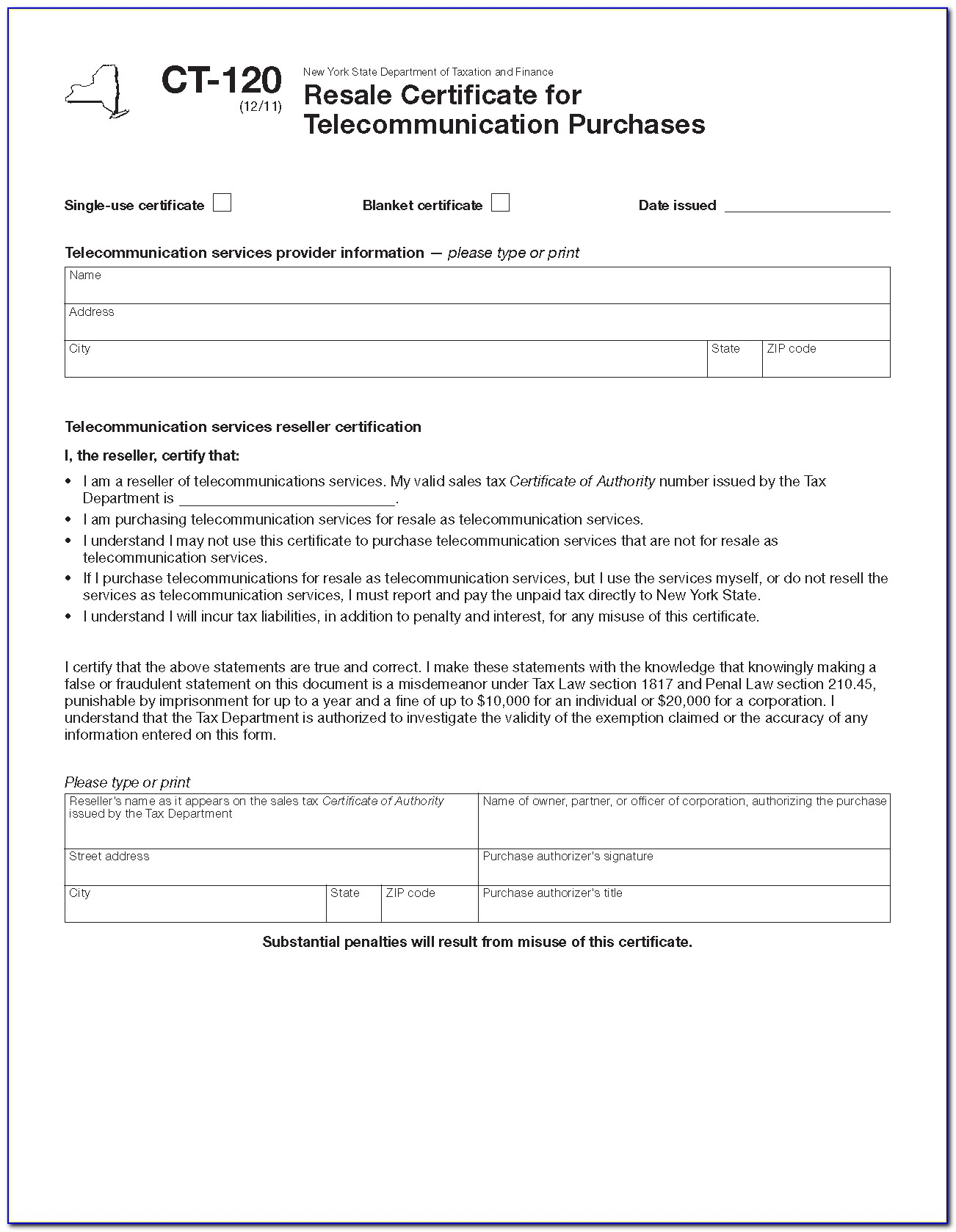 Nys Certificate Of Authority Number Lookup