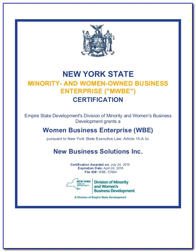 Nys Mwbe Certification Lookup