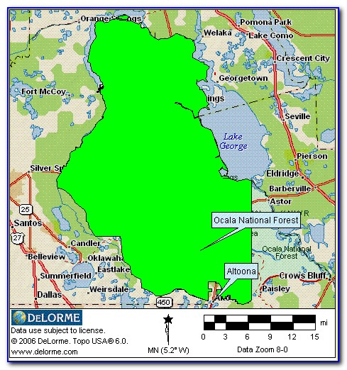 Ocala National Forest Springs Map