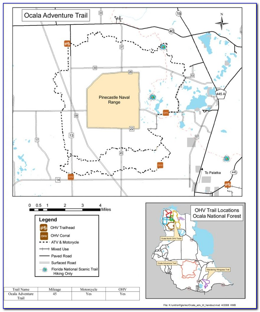 Ocala National Forest Trail Map