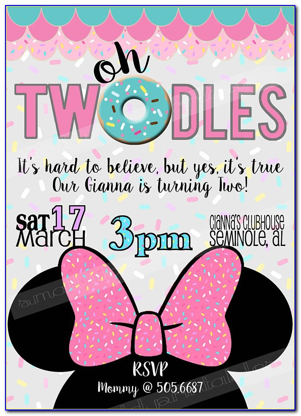 Oh Twodles Invitation Free