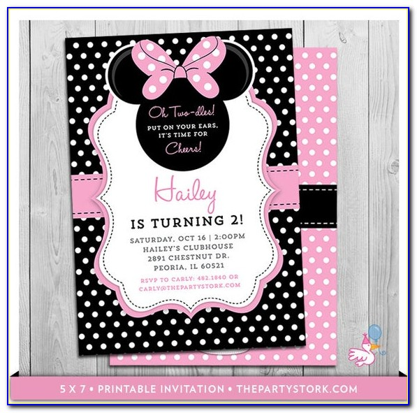 Oh Twodles Minnie Mouse Invitations