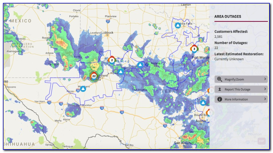 Oncor Power Outage Map For Texas