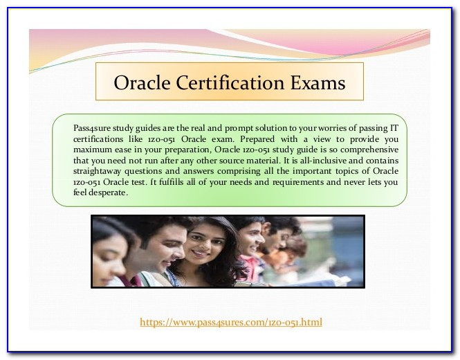 Oracle 1z0 051 Certification Exam