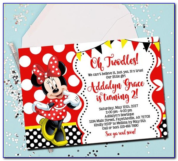 Order Minnie Mouse Invitations
