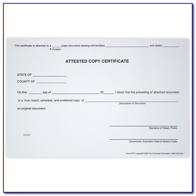 Oregon Notary Certificate Of Authorization