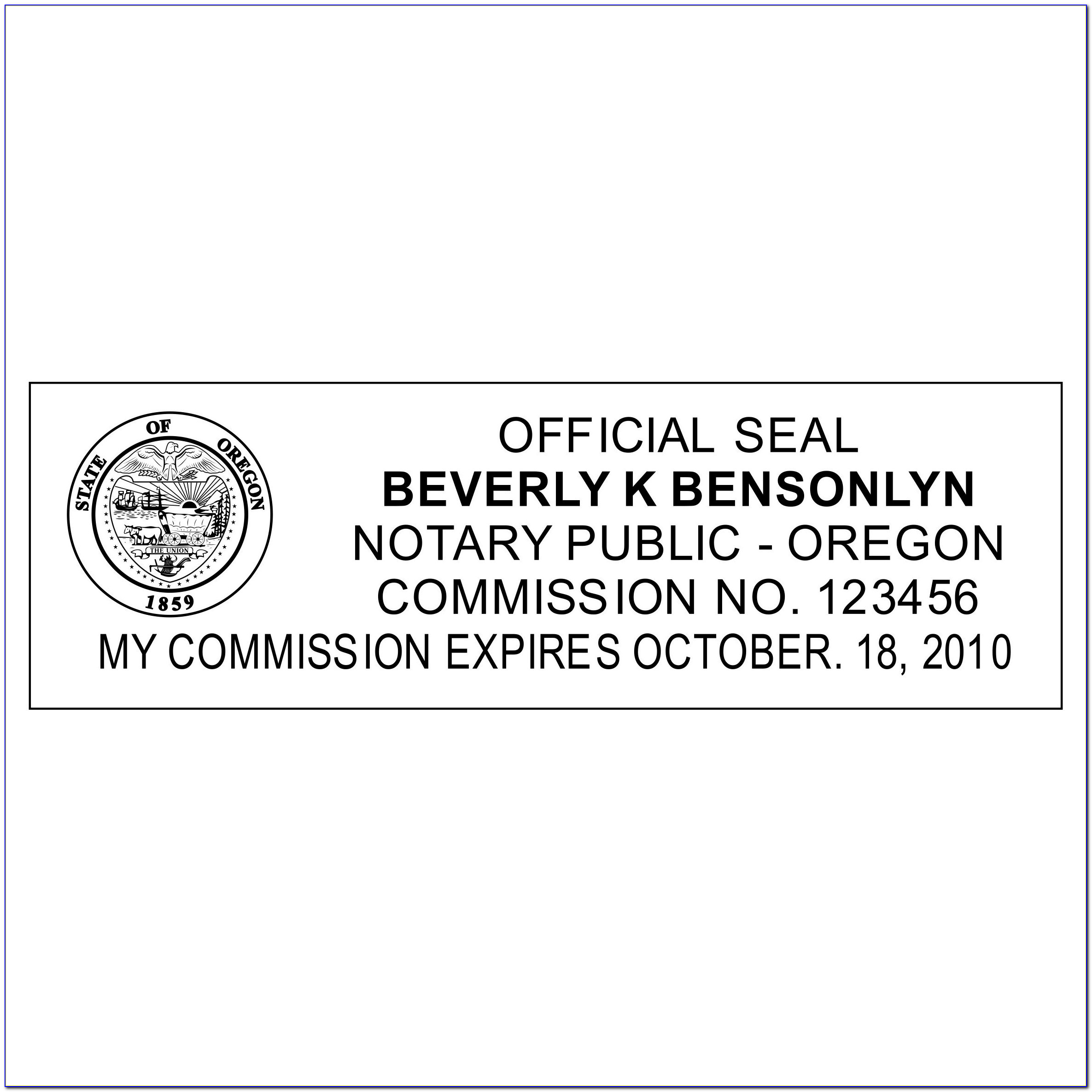 Oregon Notary Certificate Types