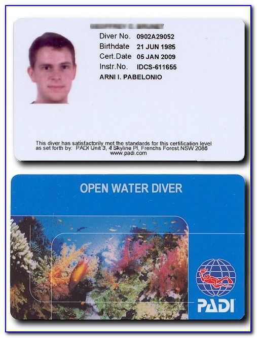 Padi Certification Card Not Received