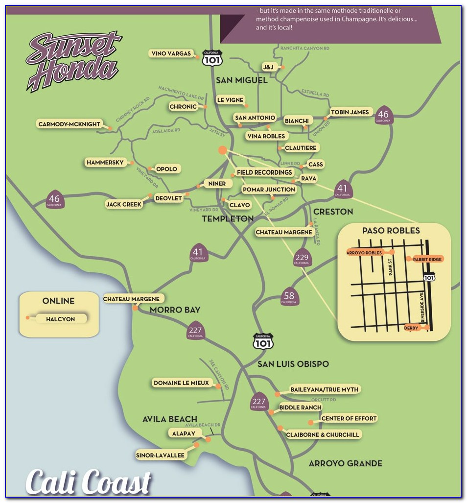 Paso Robles Sparkling Wine Map