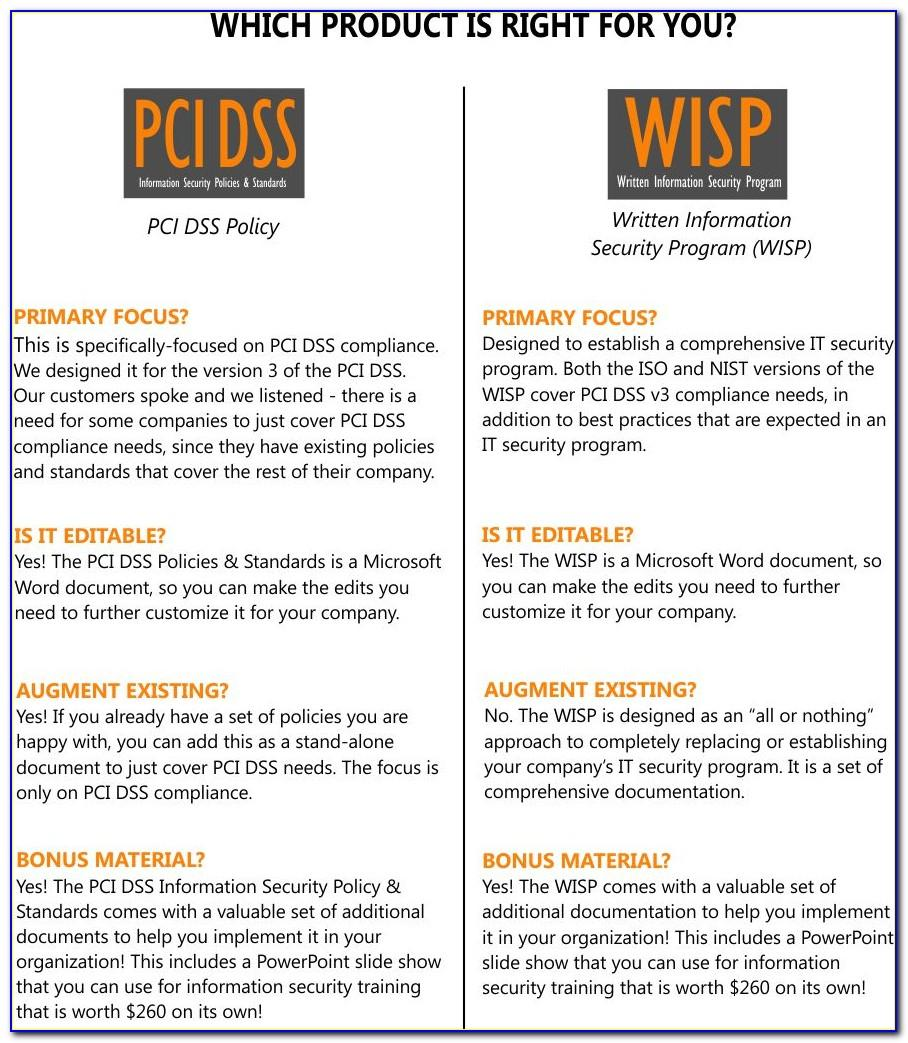 Pci Compliance Policy Template