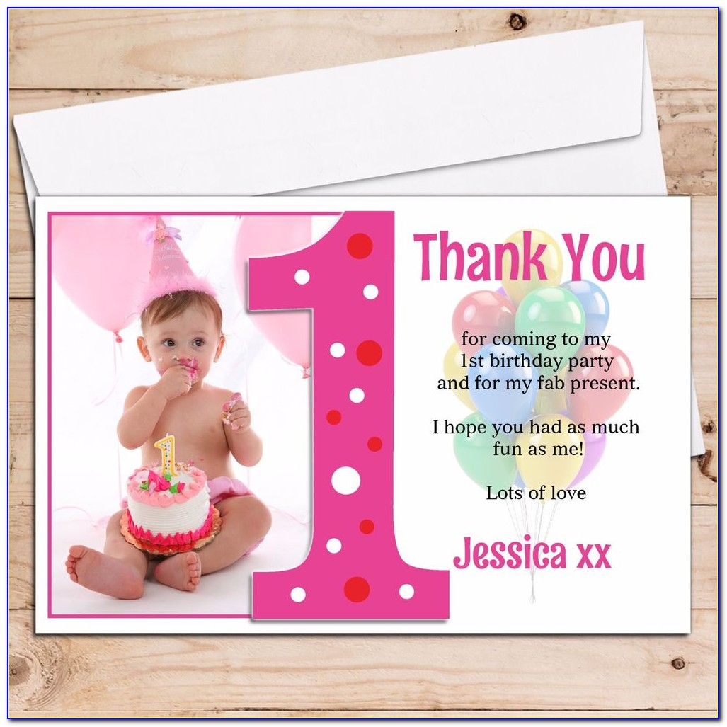 Personalised 1st Birthday Thank You Cards Uk
