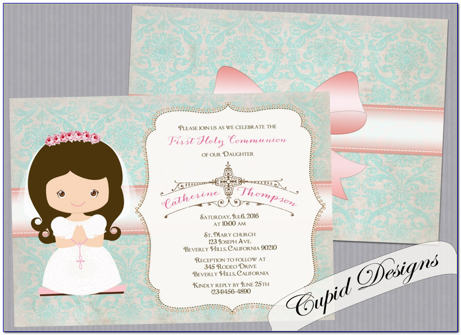 Personalised First Holy Communion Invitations