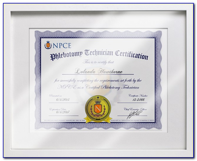 Phlebotomy Certification Test Study Guide