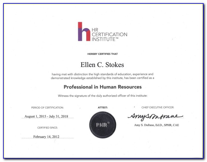Phr Or Sphr Certification Exams