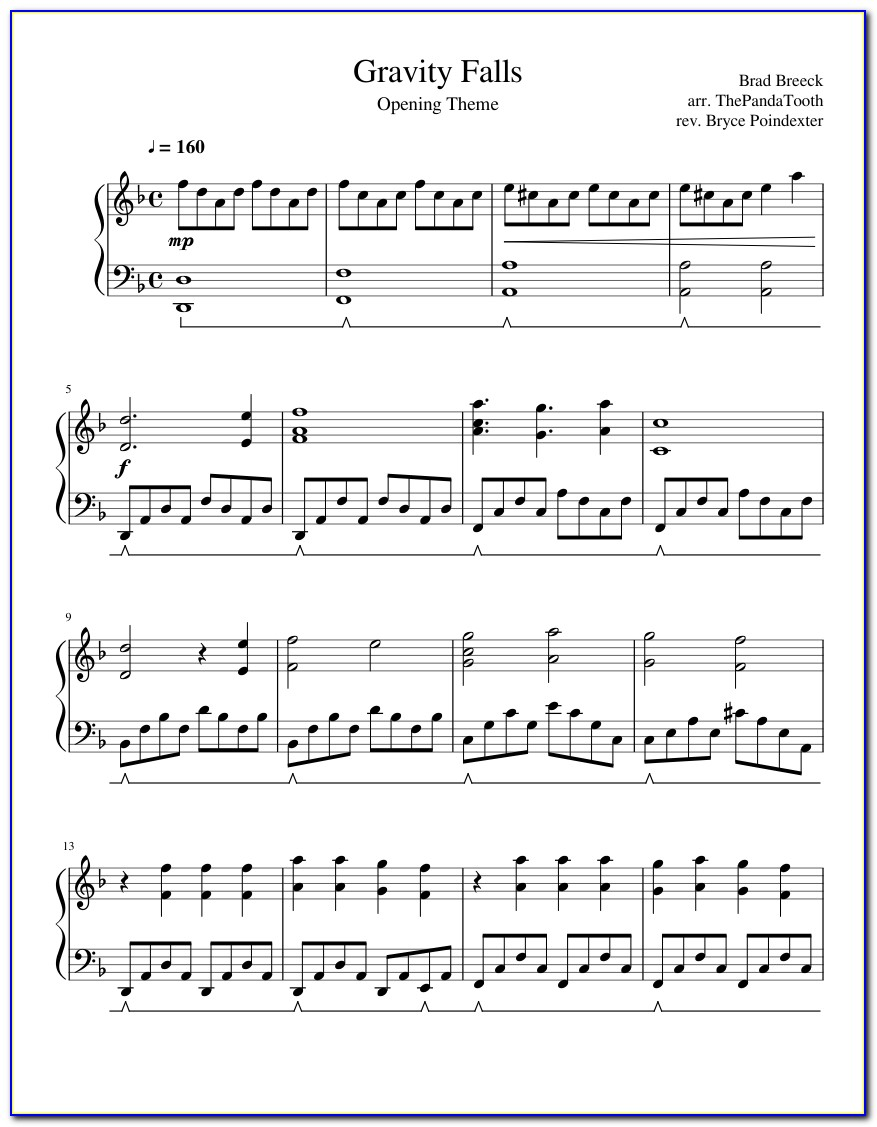 Piano Letter Notes My Heart Will Go