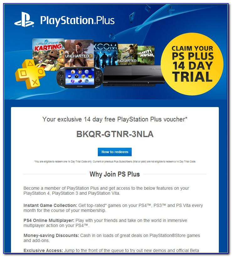 Playstation 4 Plus Card Free Code