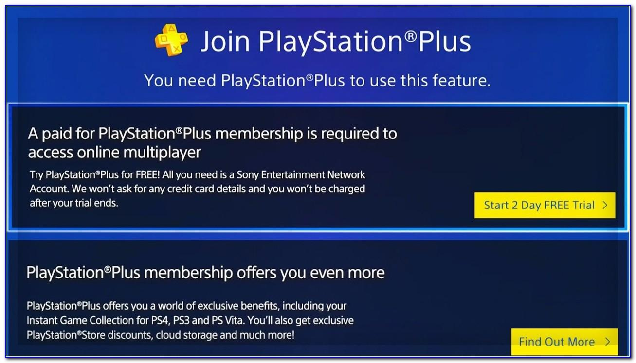 Playstation Plus 14 Day Free Trial No Credit Card