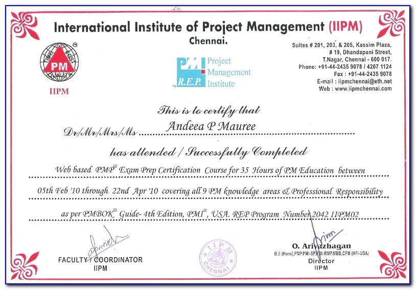 Pmp Certification Maine