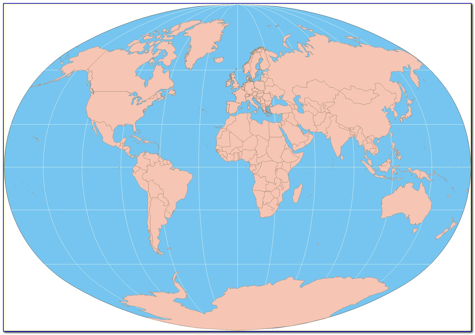 Printable Labeled World Map For Students
