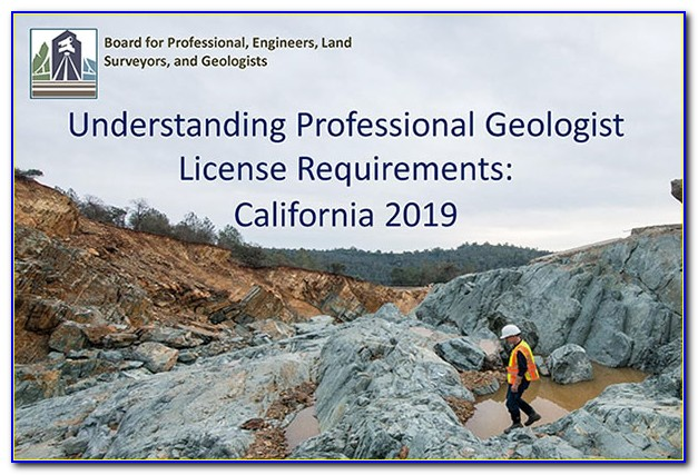 Professional Geologist Certification