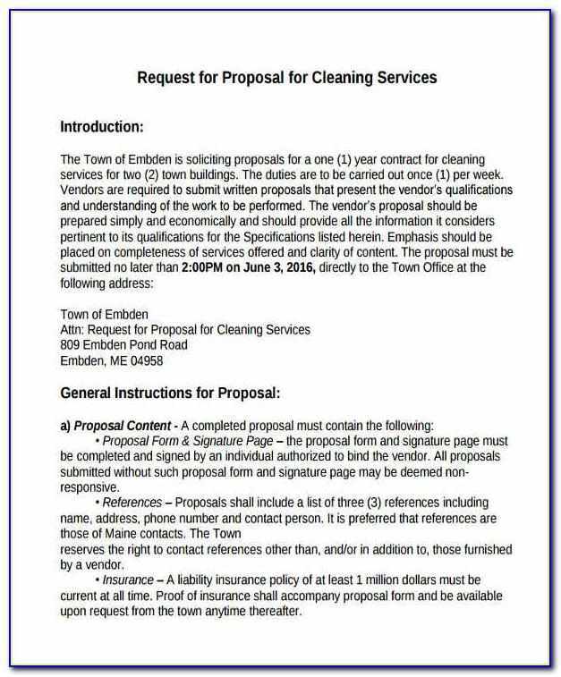 Proposal Template For Cleaning Services