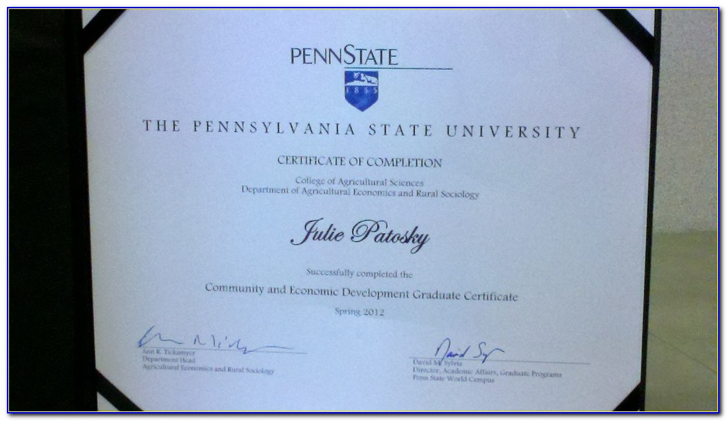 Psu Post Baccalaureate Accounting Certificate