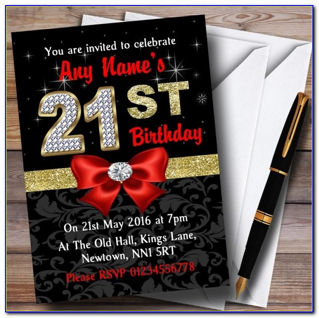 Red And Black 50th Birthday Invitations