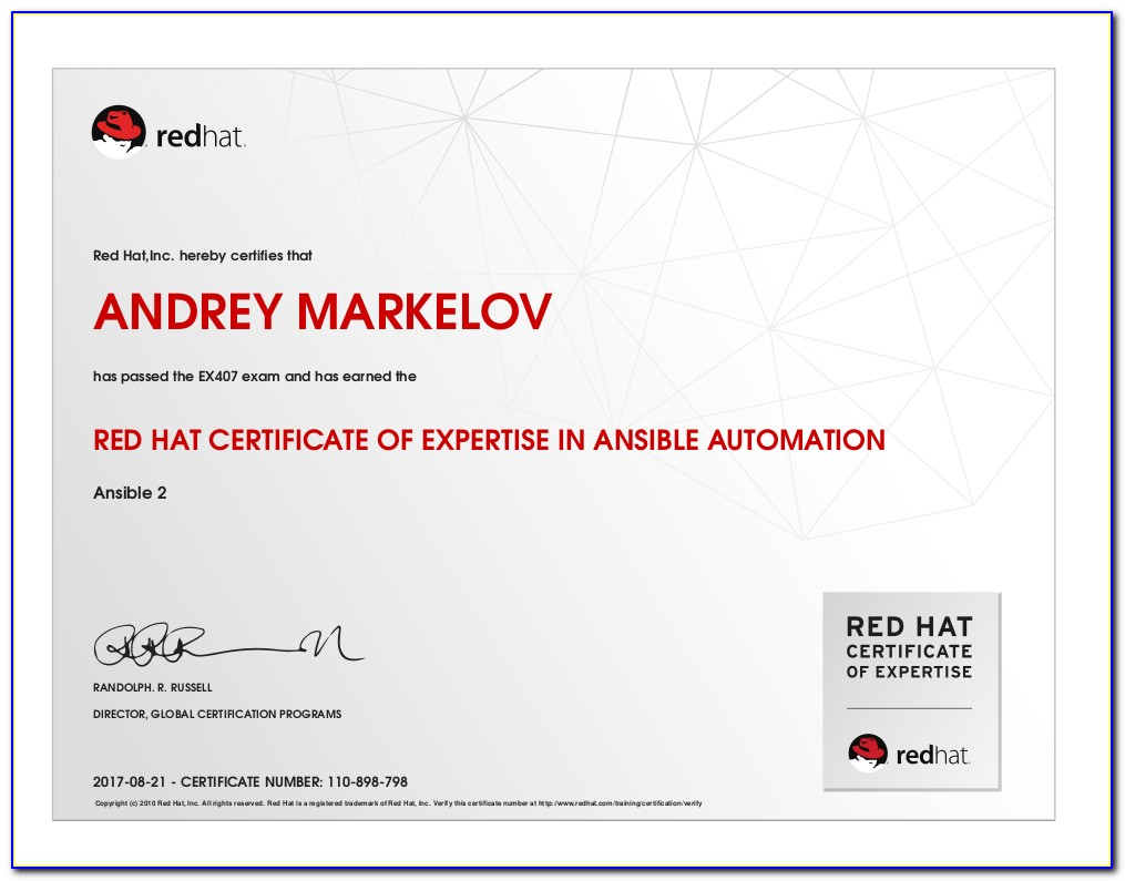 Red Hat Ansible Certification Training