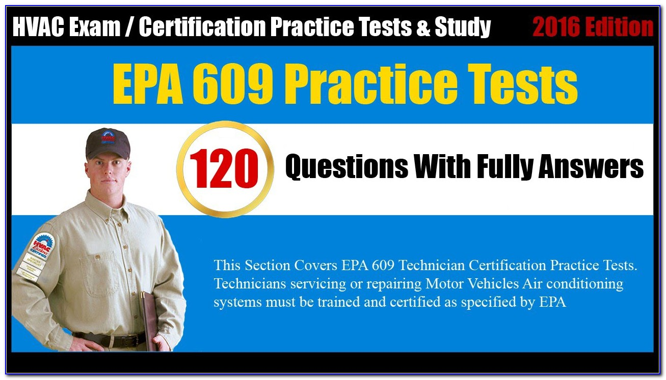 Refrigerant Certification Test Answers