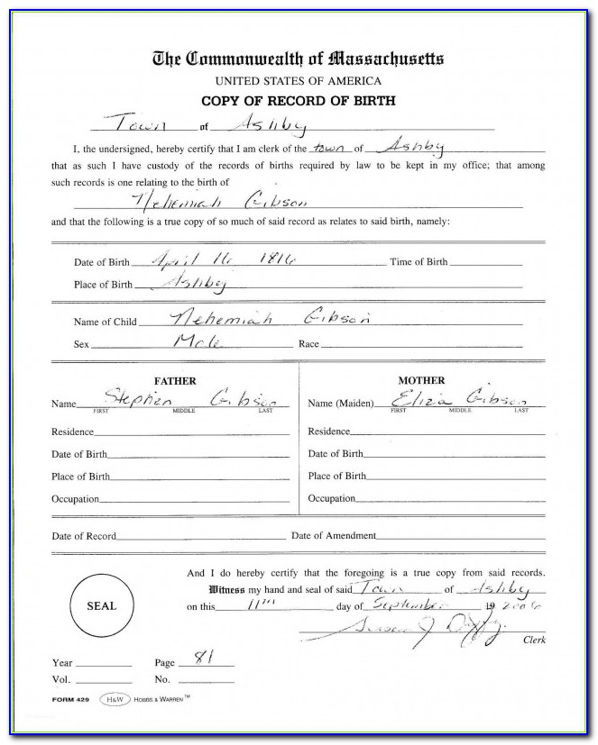 Replacement Birth Certificate Wales