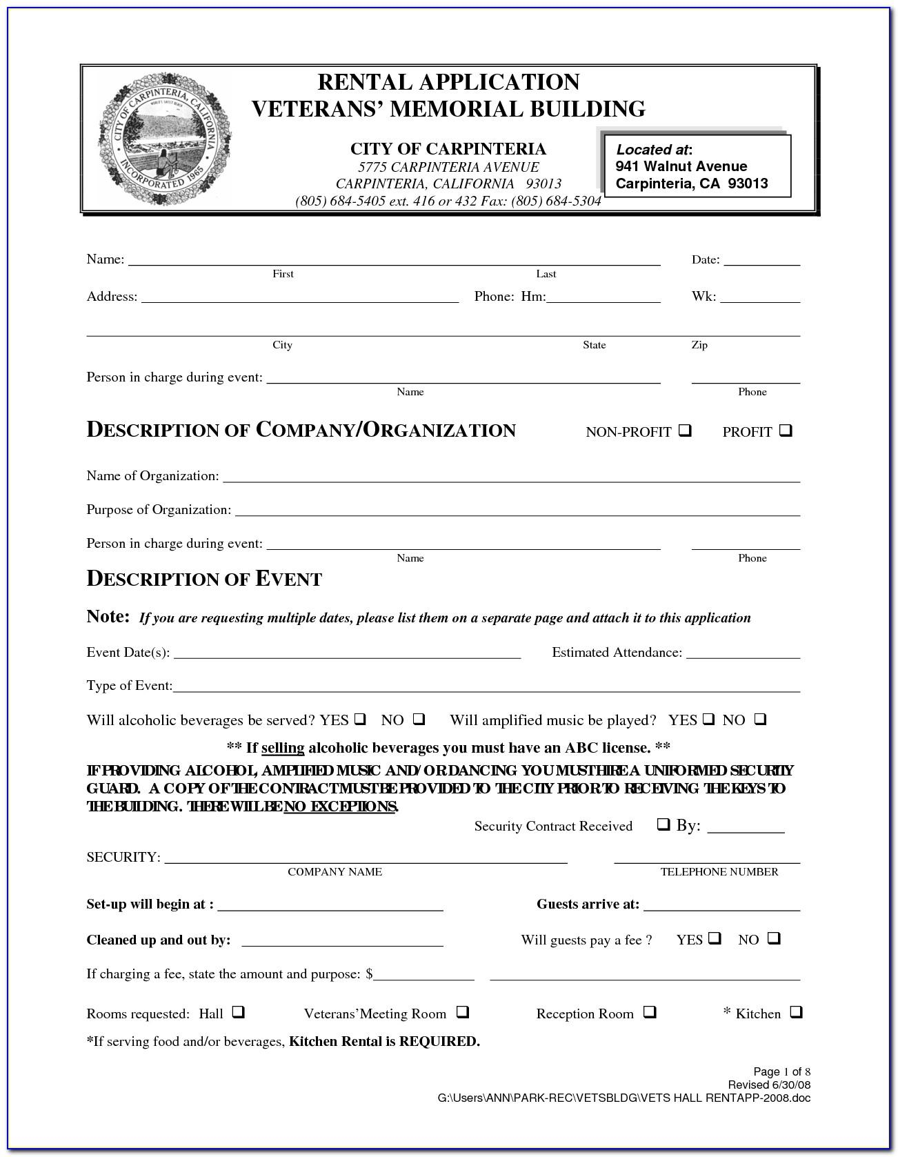 Residential Lease Agreement California Template