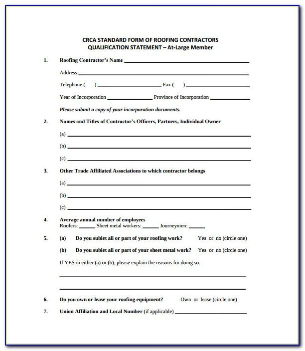Roofing Warranty Template Free