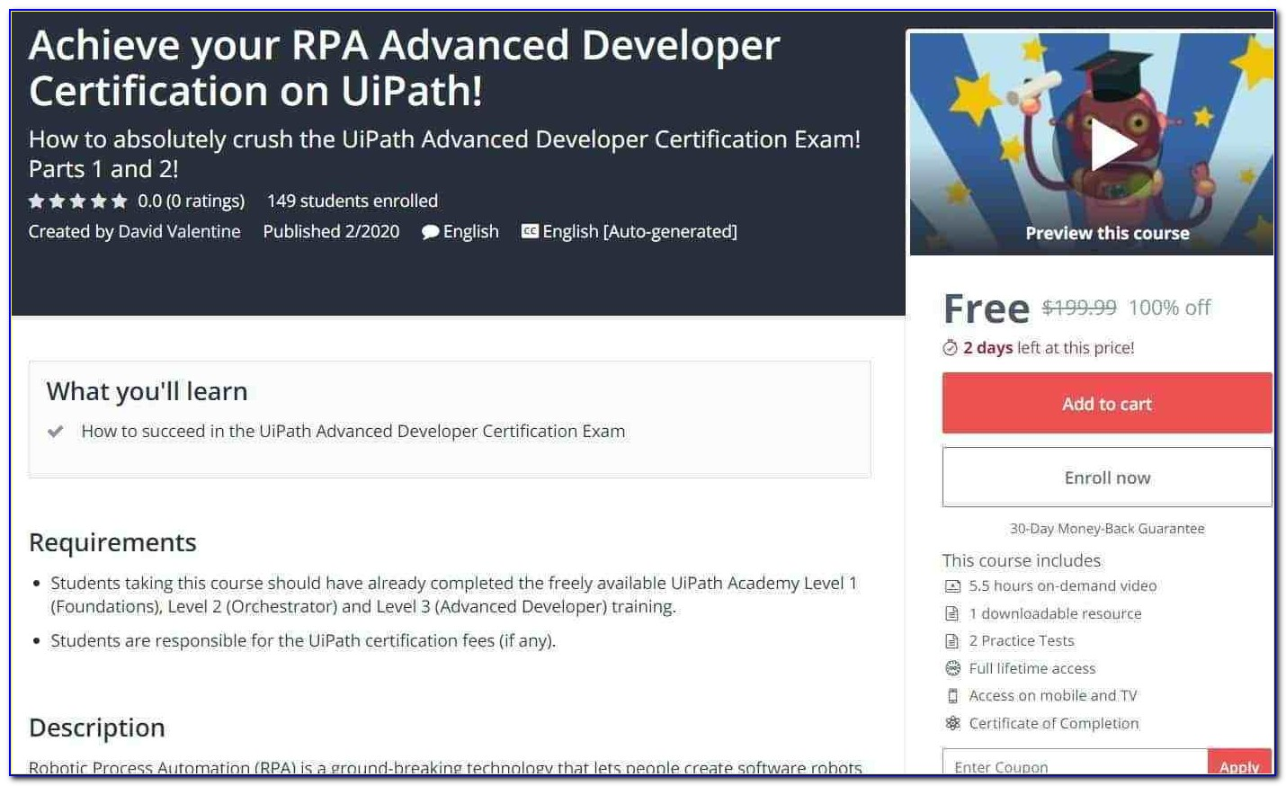 Rpa Developer Certificate Of Completion