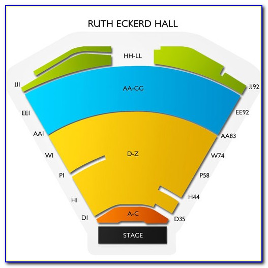 Ruth Eckerd Hall Seating Map