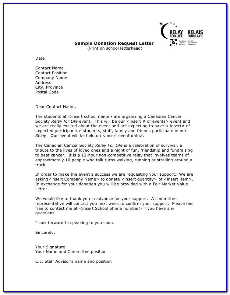 Sample Letter Asking For Donations For School Event