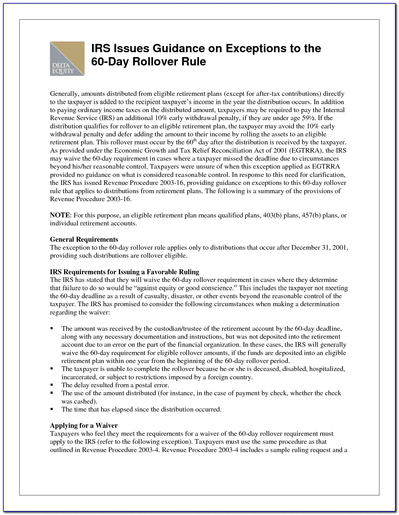 Sample Letter To Irs Requesting Penalty Waiver