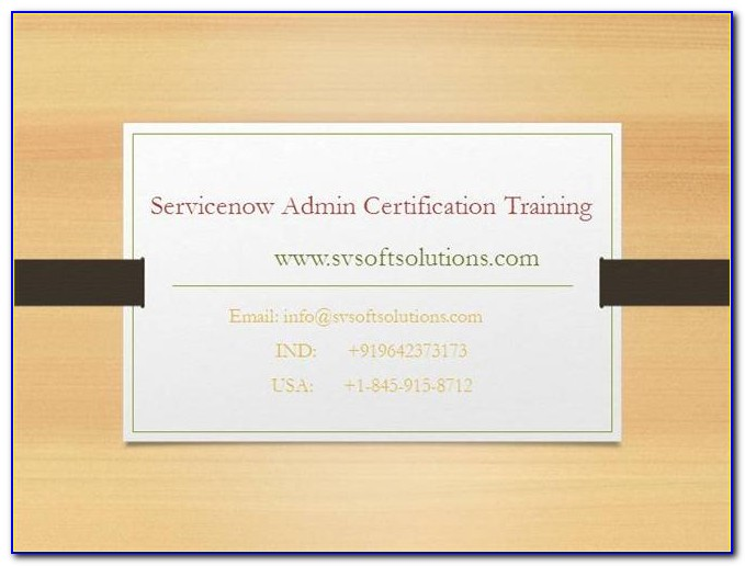 Servicenow Administrator Certification Questions