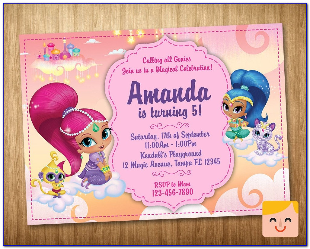 Shimmer And Shine Free Online Invitations