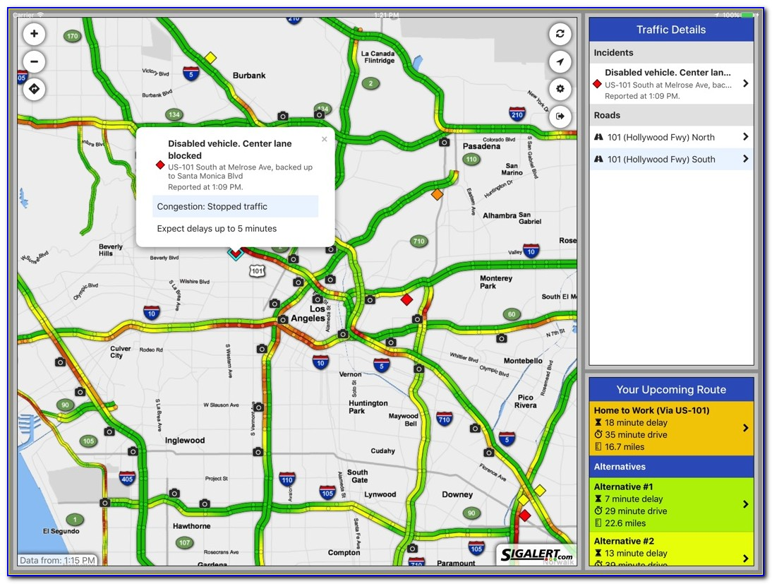 Sigalert Los Angeles County Map