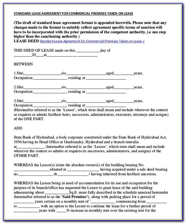 Simple Commercial Lease Agreement Template Uk